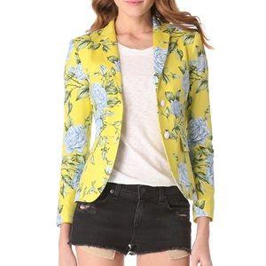 Rag & Bone Bailey Yellow Floral Print Blazer Size0